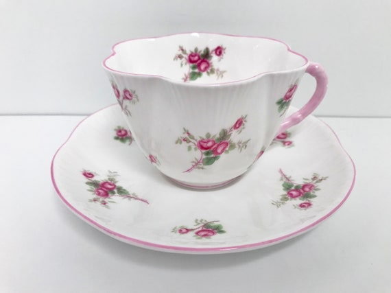 Rose Spray by Shelley Teacup and Saucer, Shelley Teacups, English China Tea Cups, Shelley China, Antique Tea Cups, Shelley Tea Cups