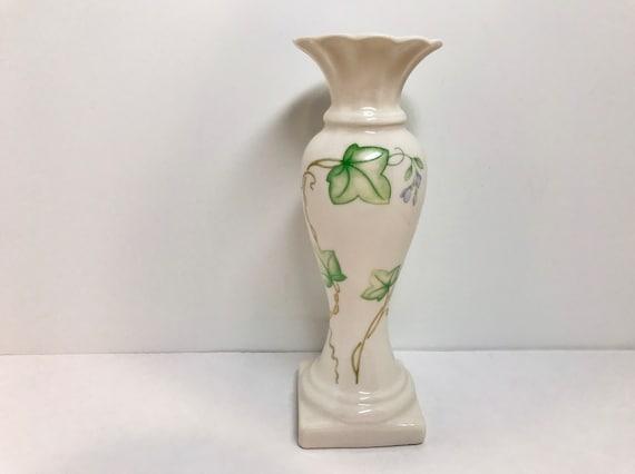 Reserved for SR, Belleek Vase, Ivy Vase, Belleek China, Irish Porcelain, Made in Ireland, Irish China, Green Mark Vase Belleek