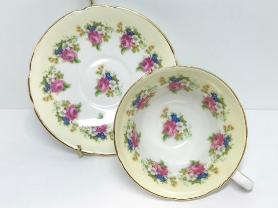 Stanley Tea Cup and Saucer, Floral Tea Cups, Yellow Floral Tea Cup, Antique Teacups Vintage, Teatime, English Tea Cups Vintage