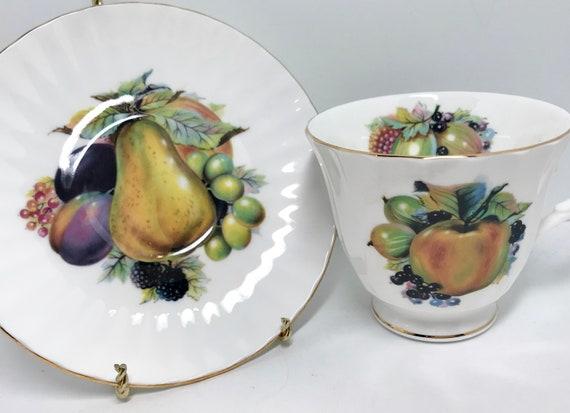 Royal Court Teacup and Saucer, Fruit Teacups, Vintage Teacups, Vintage Teacups, Teatime Teacups, English Tea Cups, Apple Teacups
