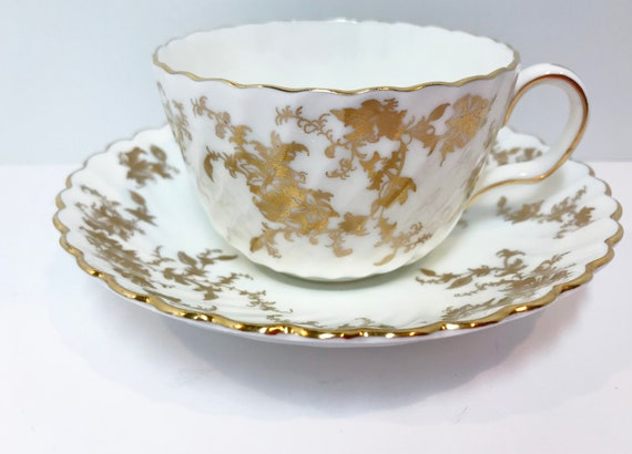 Minton Ancestral Gold Teacup and Saucer, Antique Teacups Vintage, Tea Cups Vintage, Antique Minton, Minton China, Gold Ancestral Minton