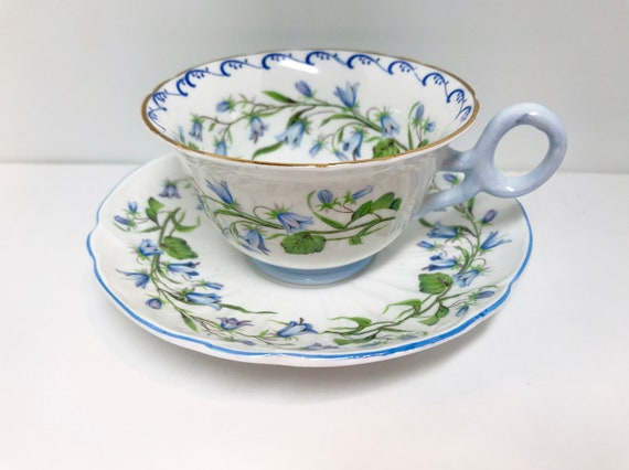 MISMATCH Shelley Teacup, Harebell by Shelley Bone China, Harebell Pattern, Chester Style, Shelley Tea Cups, Vintage Teacups, Antique Teacups