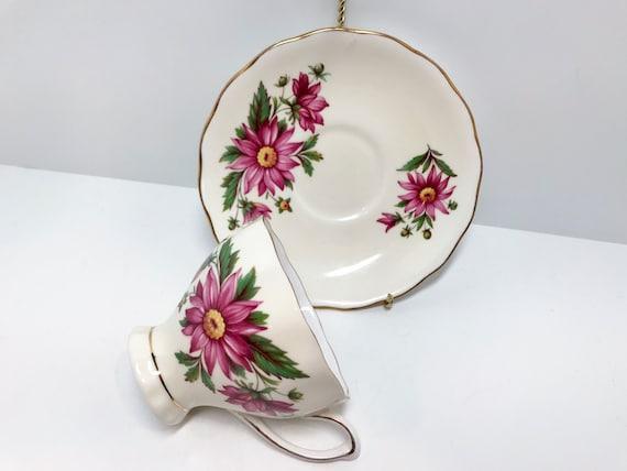 Colclough Teacup and Saucer, Floral Tea Cups, English Teacups, Antique Tea Cups Vintage, Antique Teacups Vintage,  Bone China Tea Cup