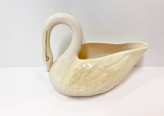 Belleek Swan, Green Mark Belleek, Belleek Animal, Belleek Figurine, Belleek Candy Dish, Belleek Creamer