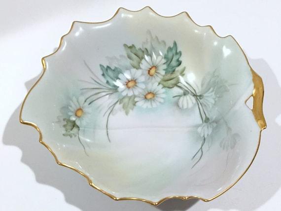 Antique Bowl, Artist Helen Hale, Artist Signed Bowl, Hand Painted Victorian Bowl, Antique China, Antique Porcelain,