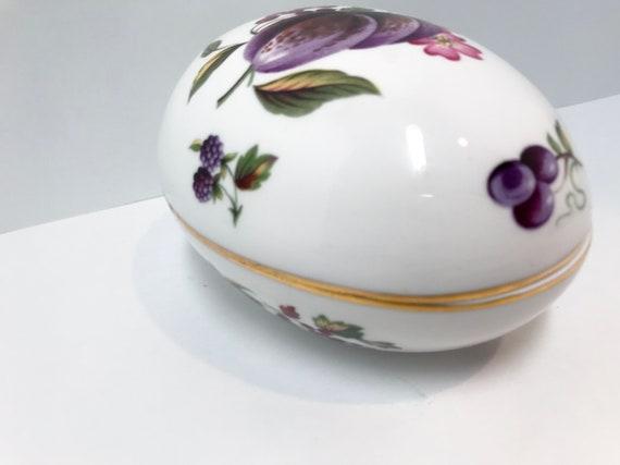 Hammersley Egg, Vanity Accessory, Bone China Easter Egg, Decorative Egg, Porcelain Egg Container, Bone China Ring Box, Ring Container