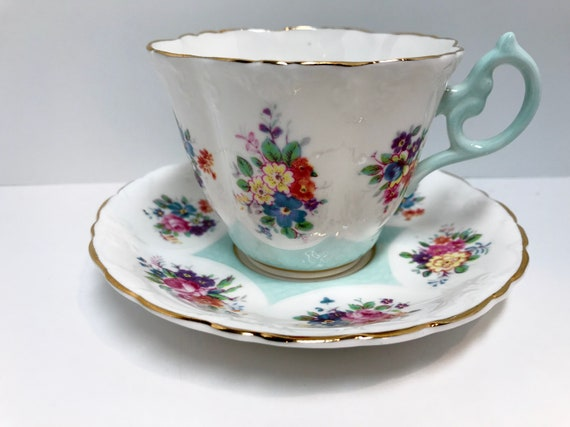 Paragon Tea Cup and Saucer, Floral Tea Cups,  English China Cups, Antique Tea Cups Vintage Teacups, Warranty Tea Cups