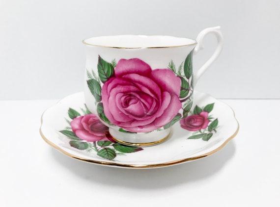 Big Rose Cups, Royal Albert Teacups Vintage, Antique Teacups,  Large Pink Rose Teacup, Antique Tea Cups Vintage