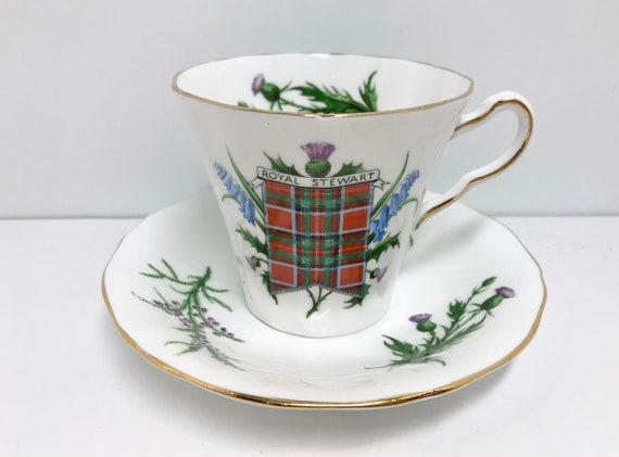 Royal Stewart Teacup and Saucer, Royal Adderley Teacup, English Bone China Teacups, Tartan Tea Cups, Scottish Teacups, Friendship Cup