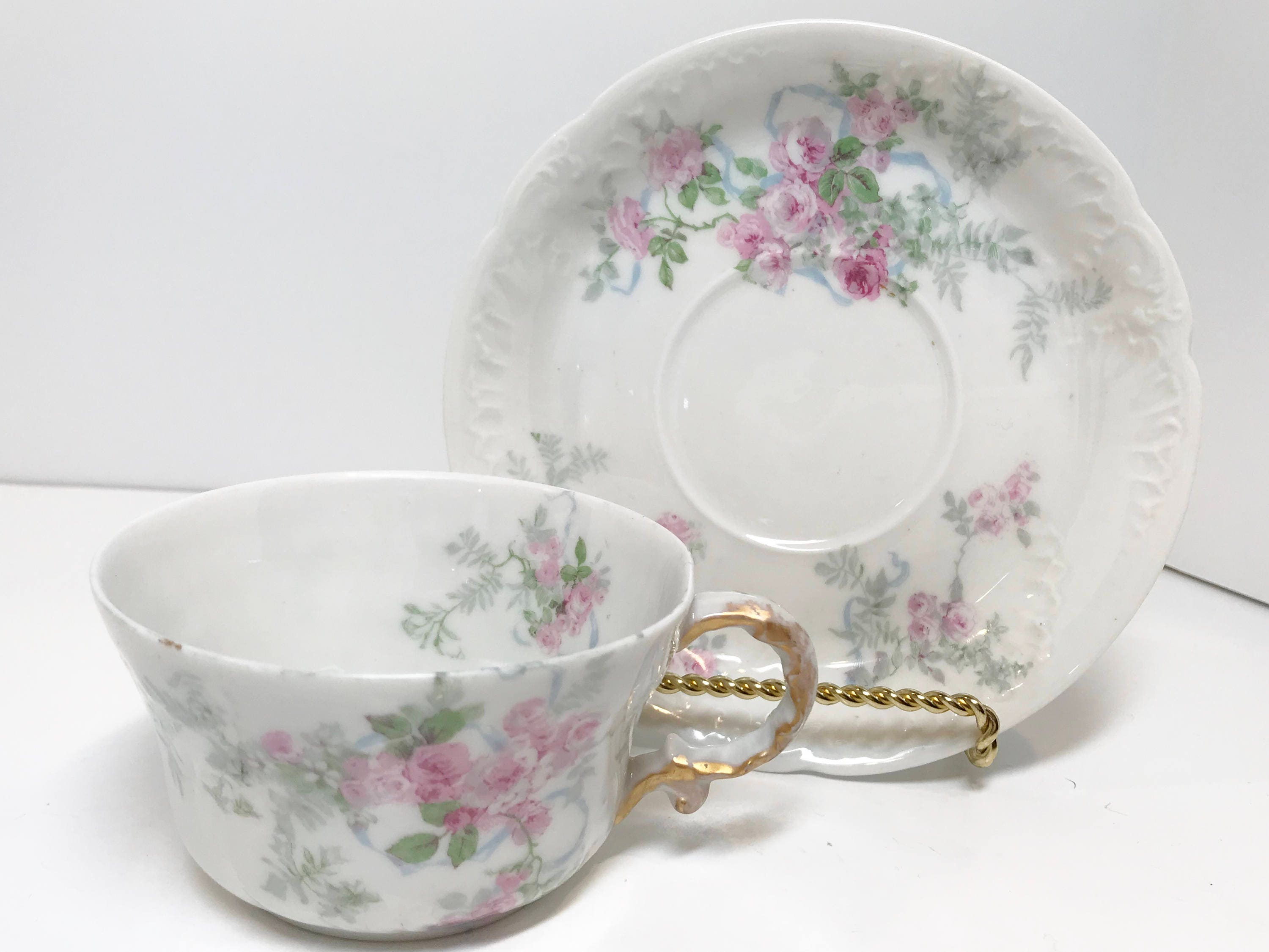 Guerin Limoges Teacup And Saucer Wm Guerin Limoges French Limoges