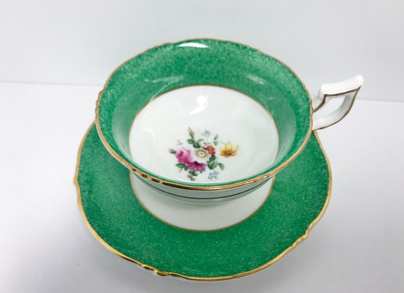 Royal Cauldon Teacup and Saucer, Hand Painted Teacup, English Tea Cups, Antique Tea Cups Vintage, Antique Teacups Vintage, Teatime Teacups