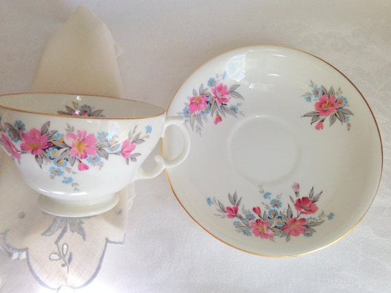 Pretty Adderley Tea Cup and Saucer, English Teacups, Antique Tea Cups, Flowered Cups, China Tea Cups