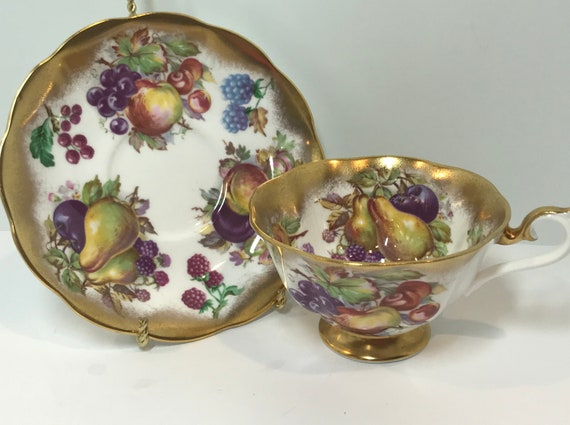 Royal Albert Tea Cups, Fruit Tea Cup, Antique Tea Cups Vintage, Antique Teacups Vintage, Gold Tea Cups