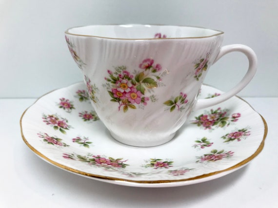 Apple Blossom Teacup, Queens Teacup and Saucer, Countryside Series, Floral Teacups, Vintage Teacups, Antique Teacups Vintage