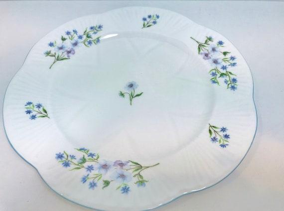 Shelley Plate, Shelley Blue Rock Plate, Cake Plate, English Bone China, Pattern 13591, Dessert Plate, Shelley China, 8 Inch Plate