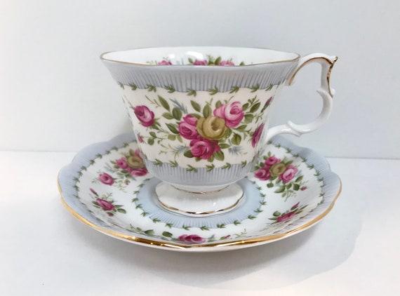 Royal Albert Tea Cup and Saucer, Antique Teacups, Antique Tea Cups, Floral Tea Cups, Gaiety Series, Minuet Pattern. Vintage Tea Cups