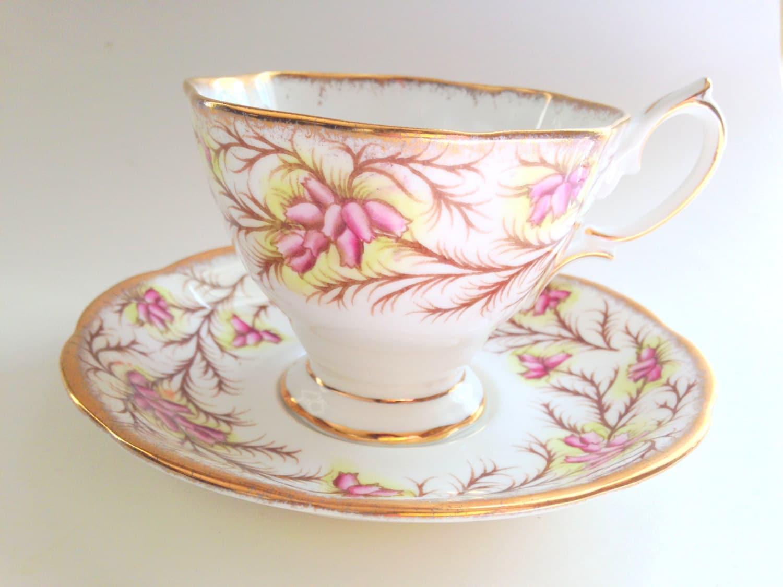Heather Bell Royal Albert Tea Cup and Saucer, Tea Set
