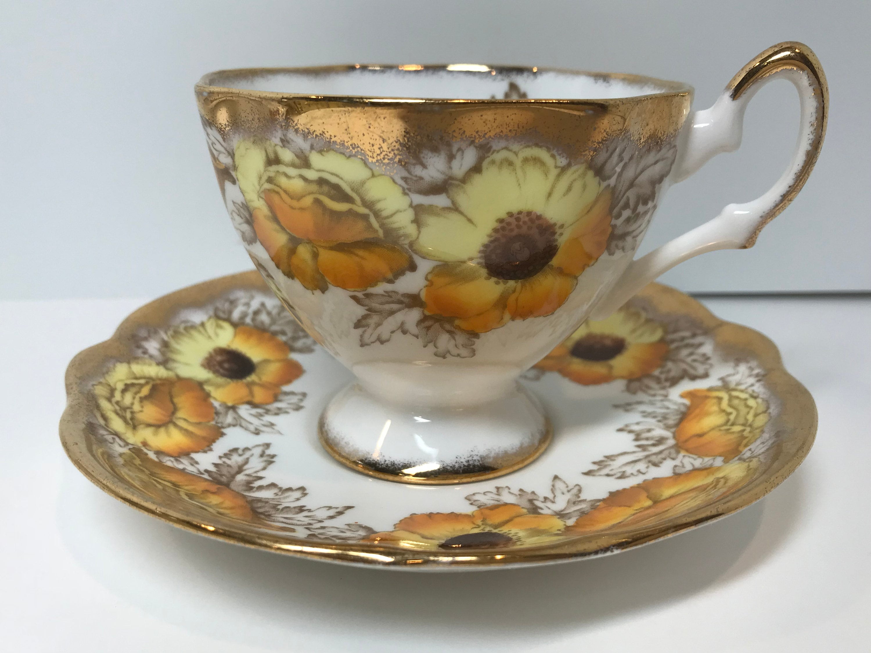 Iceland Poppy Teacup Salisbury Tea Cup And Saucer China Tea Cups