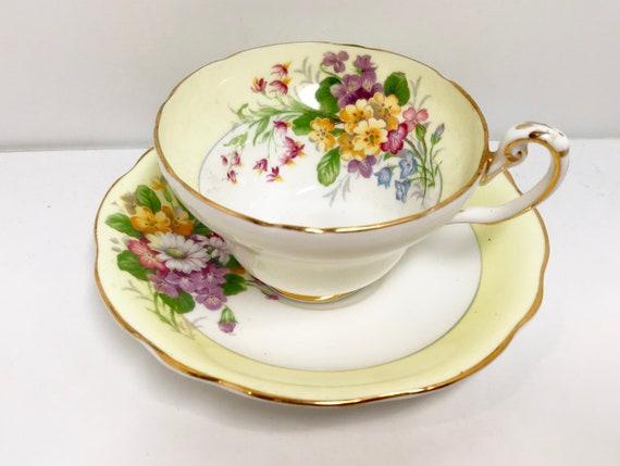 Foley Teacup and Saucer, Foley Tea Cup, English Bone China Cups, Antique Tea Cups Vintage, English Teacups, Floral Tea Cups