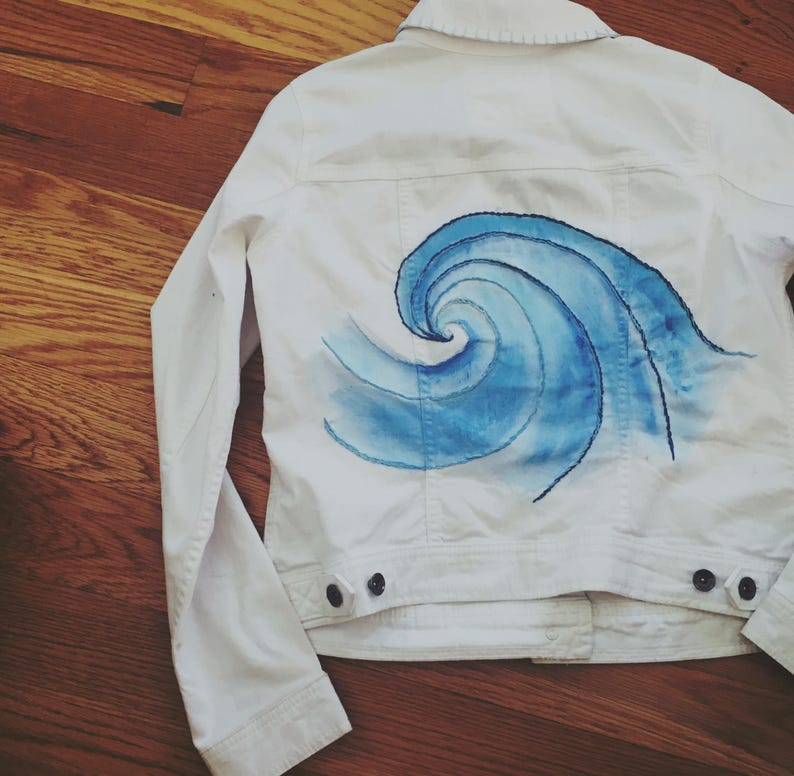2e30665da37 SALE Happiness Comes in Waves Jean Jacket