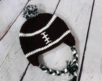 4e359733537 Football Hat with Team Colors (custom colors for your team... peewee