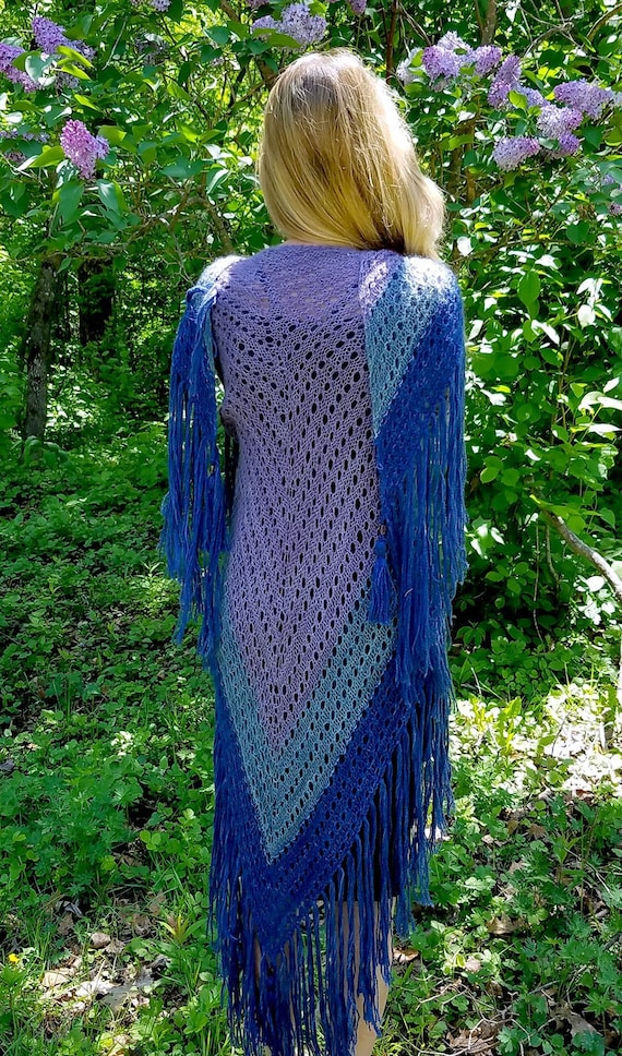 Pygora Goat Yarn Shawl Project Example Shawl Is Not For Sale