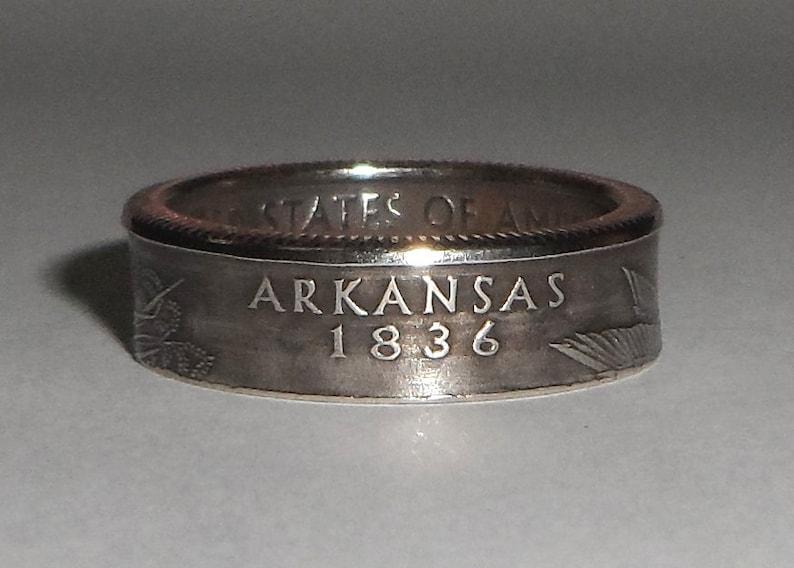 Sealed ARKANSAS  us quarter  coin ring size  or pendant