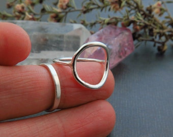 Sterling Silver Eternal Circle Simple Ring.