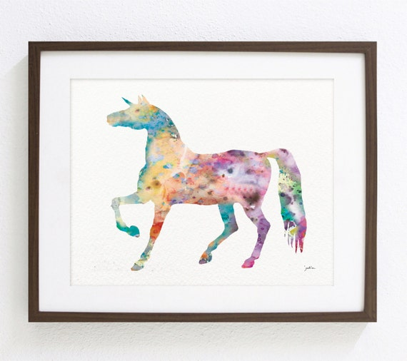 personalised unicorn Canvas Wall Art Picture Print a4.a3 or 16x20 2
