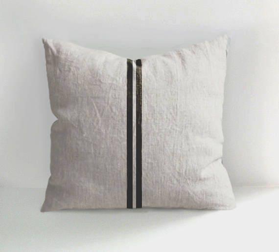 salmon linen pillow case | Pillows