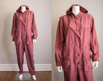 428fc13311e5 vintage 1980s jumpsuit   80s silk flight suit   medium   Amelia Jumpsuit