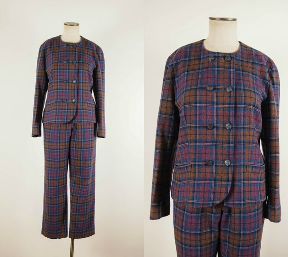 vintage 1990s suit / 90s plaid Pendleton suit / me