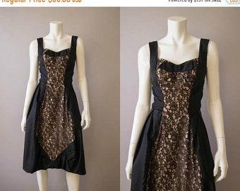 SEMI ANNUAL SALE vintage 1950s dress / 50s Lilli Diamond party dress / small /