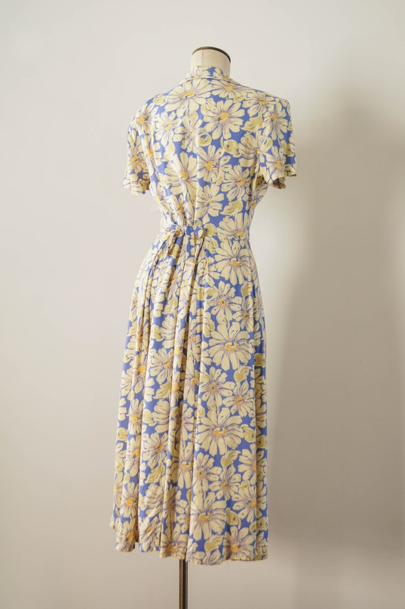 vintage 1990s dress / 90s does 30s floral rayon d… - image 5