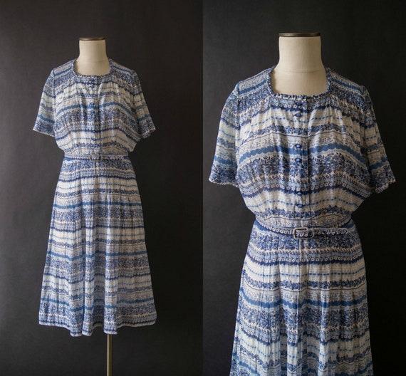 Jahrgang 1950 Kleid / 50er Jahre Kleid aus L\'Aiglon