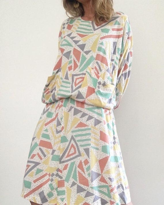 MARIMEKKO 1980s VINTAGE gorgeous geometric pattern