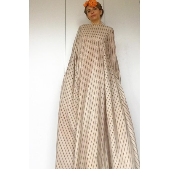 VUOKKO 60s UNWORN/Dead Stock Tent  dress with bea… - image 5
