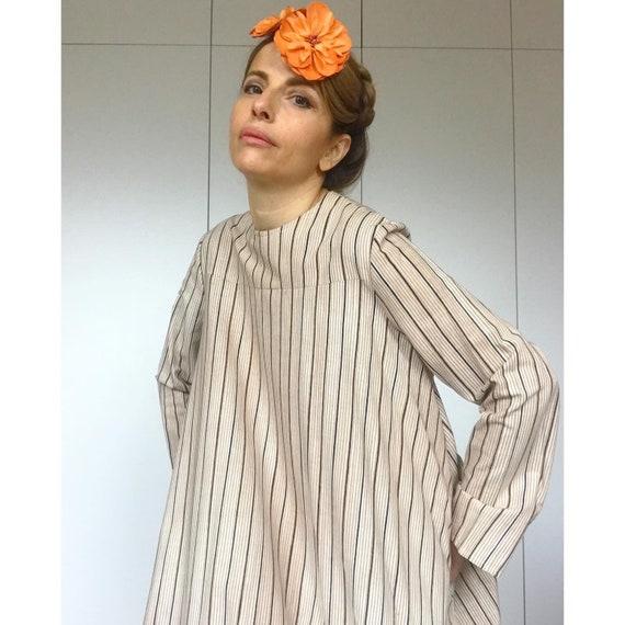 VUOKKO 60s UNWORN/Dead Stock Tent  dress with bea… - image 4