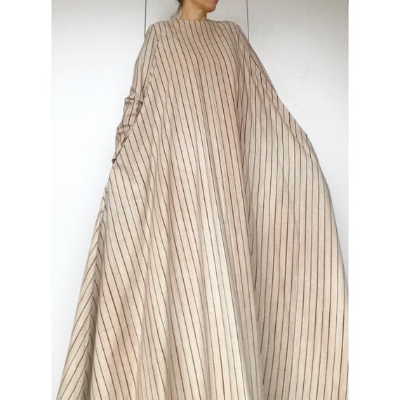 VUOKKO 60s UNWORN/Dead Stock Tent  dress with bea… - image 2