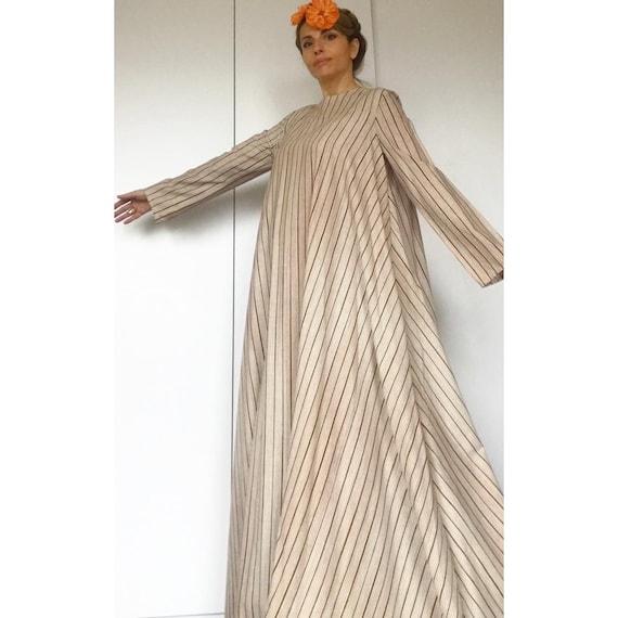 VUOKKO 60s UNWORN/Dead Stock Tent  dress with bea… - image 3