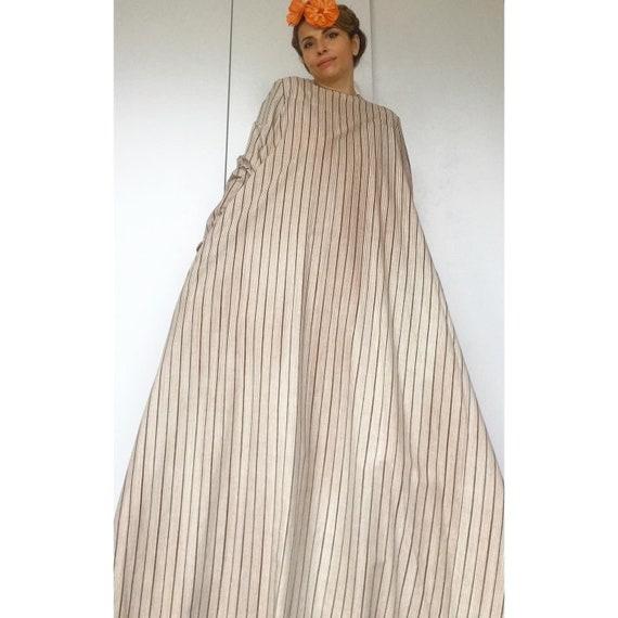 VUOKKO 60s UNWORN/Dead Stock Tent  dress with bea… - image 1