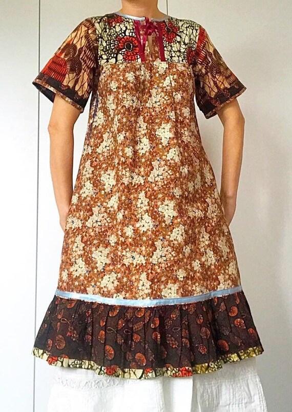 70s Vintage BOHO/PATCHWORK dress. - image 4