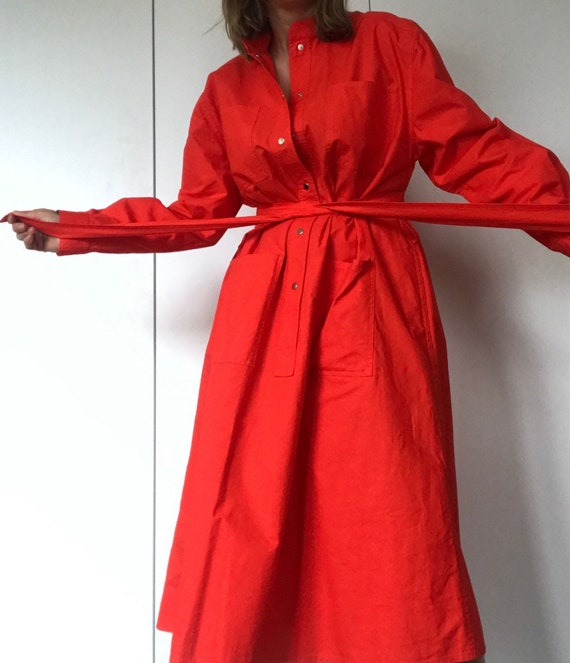 VUOKKO FINLAND Vintage Tent dress with snap closi… - image 4