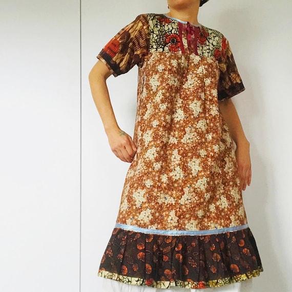 70s Vintage BOHO/PATCHWORK dress. - image 1