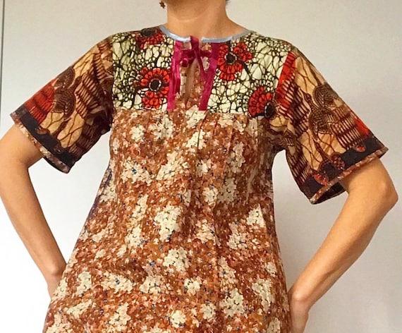 70s Vintage BOHO/PATCHWORK dress. - image 2