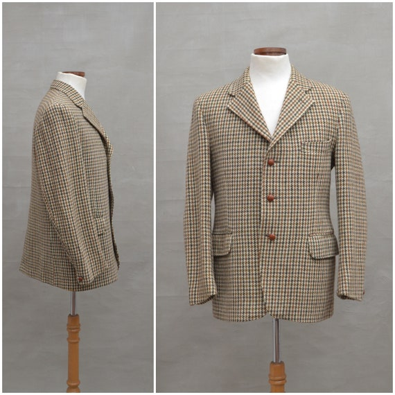 Vintage Blazer, 1970's Harris Tweed single breaste