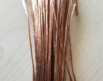 "Brown iridescent raffia ""special embroidery"""