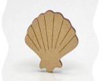 small 2 in poplar wood sea shell