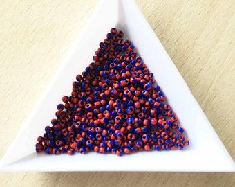 """pretty little Pearl """"Miyuki"""" micro-ball red-blue"""