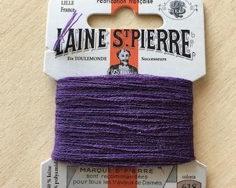 St. Pierre 618 cassis wool yarn